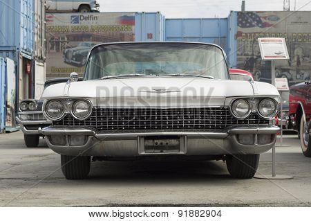 Retro car Cadillac Fleetwood S62 1960 release