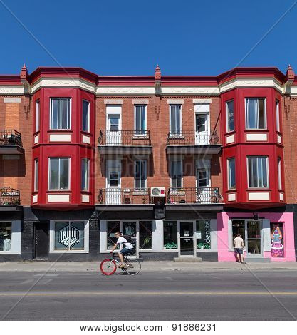 Colorful Buildings In Montreal