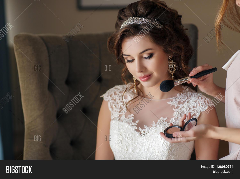 Beautiful Young Bride Curly Image & Photo | Bigstock