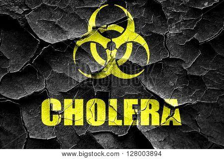 Grunge cracked Cholera concept background
