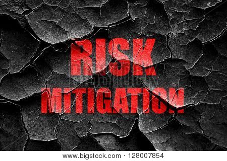 Grunge cracked Risk mitigation sign poster