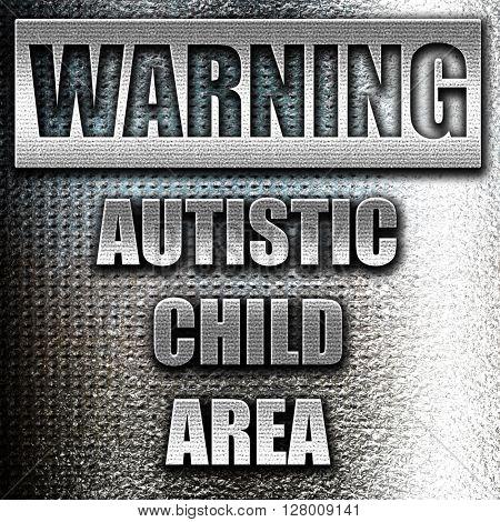 Autistic child sign