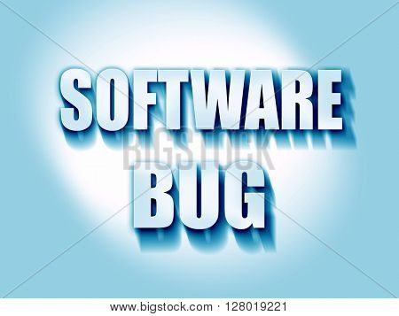 Software bug background