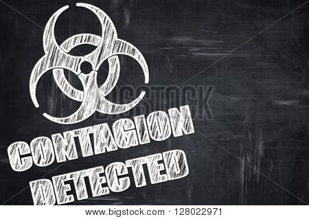 Chalkboard writing: Contagion concept background