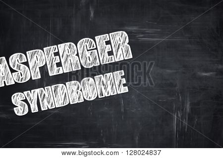 Chalkboard writing: Asperger syndrome background