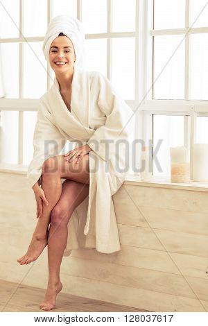 Beautiful Girl In Bathroom