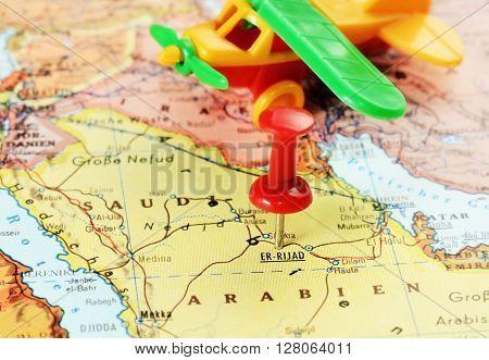 Er Riyadh,saudi Arabia   Map Airplane