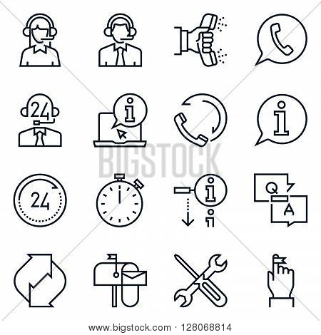 Support And Tele Market Icon Set