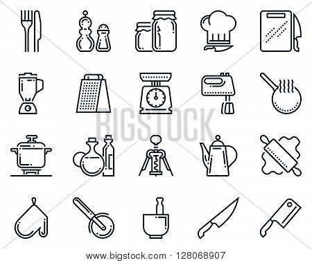 Kitchen, Kitchenware Icon Set