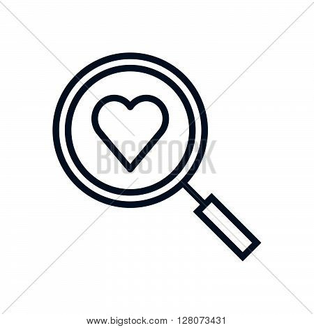 Find Love, Magnifier And Heart Icon