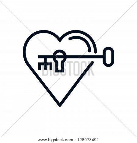 Hearth Lock And Key Icon