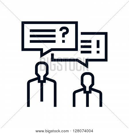 Conflict, Discussion Icon