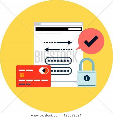 Security, Account Theme, Flat Style, Colorful, Vector Icon