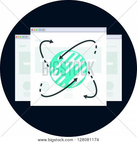 Internet, Browser Theme, Flat Style, Colorful, Vector Icon