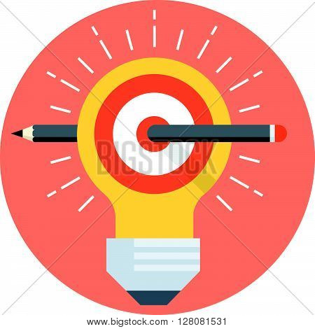 Define Goal Theme, Flat Style, Colorful, Vector Icon