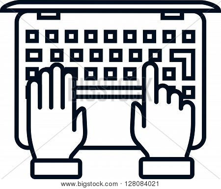 Typing Notebook Computer Icon