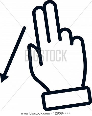 Multi Touch, Hand, Finger, Gesture Icon