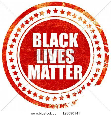 black lives matter, grunge red rubber stamp with rough lines and