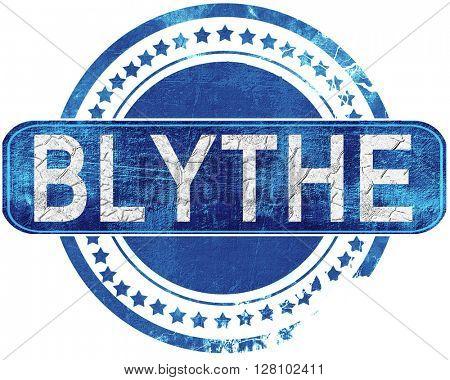 blythe grunge blue stamp. Isolated on white.