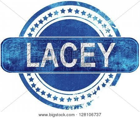 lacey grunge blue stamp. Isolated on white.