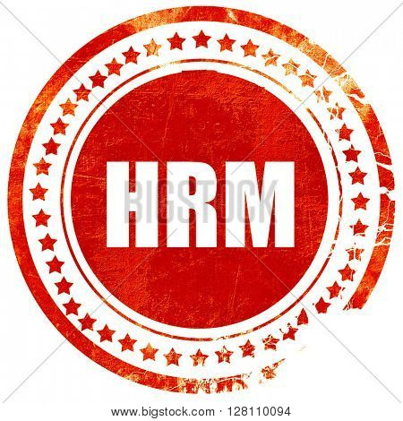 hrm, red grunge stamp on solid background