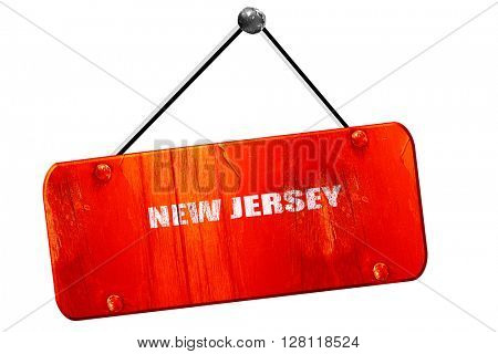 new jersey, 3D rendering, vintage old red sign