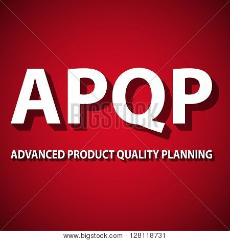 Vector illustration of Advanced Product Effect Planning framework.
