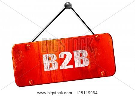 b2b, 3D rendering, vintage old red sign
