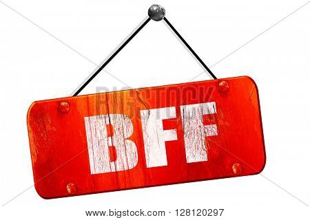 bff, 3D rendering, vintage old red sign