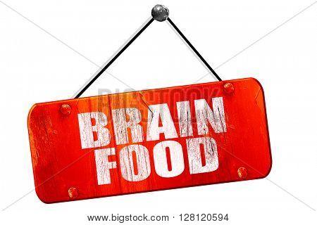 brain food, 3D rendering, vintage old red sign
