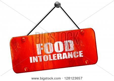 food intolerance, 3D rendering, vintage old red sign