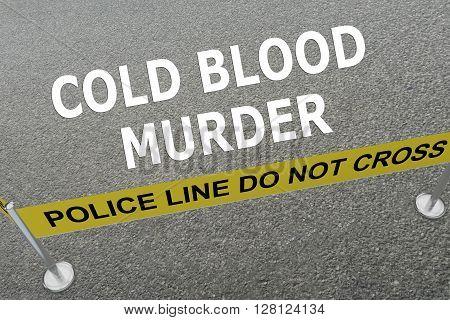 Cold Blood Murder Concept