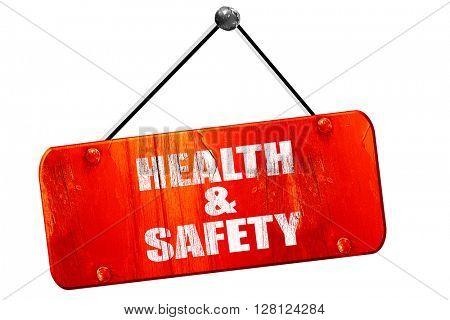 health , 3D rendering, vintage old red sign