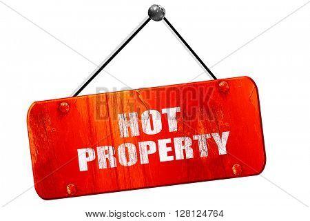 hot property, 3D rendering, vintage old red sign