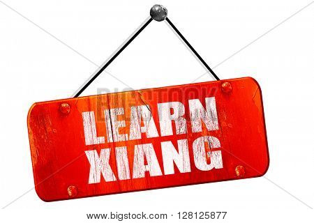 learn xiang, 3D rendering, vintage old red sign
