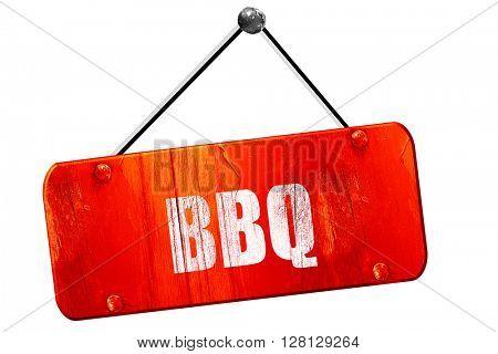 barbecue sign , 3D rendering, vintage old red sign