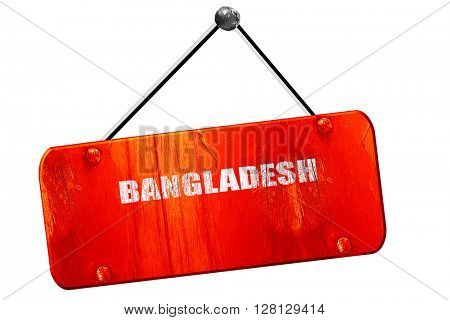 Greetings from bangladesh, 3D rendering, vintage old red sign