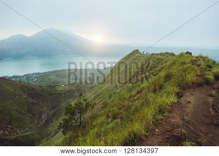 Breathtaking Sunrise Views On Batur Volcano, Bali