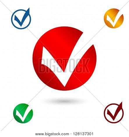 Set Icons for survey template. Elections icons. Choice Yes check marks. Vector.