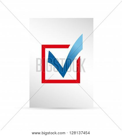 template ballot paper. Elections icons. check marks. Vector. Cast your vote.