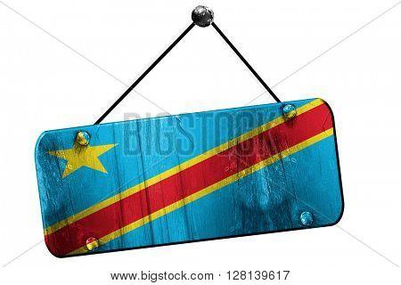 Democratic republic of the congo flag, 3D rendering, vintage gru