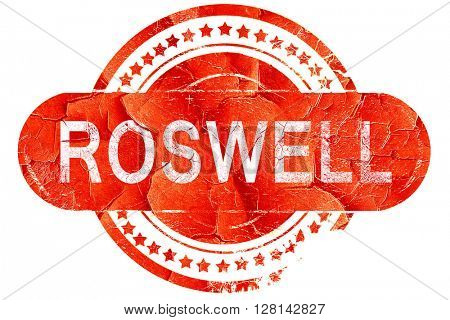 roswell, vintage old stamp with rough lines and edges