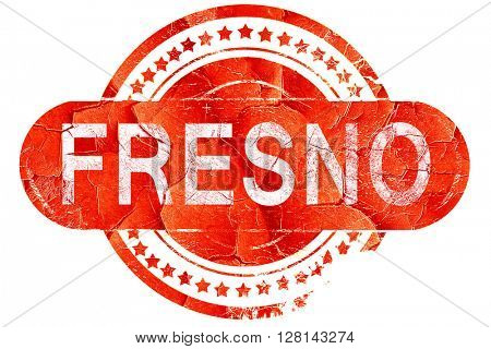 fresno, vintage old stamp with rough lines and edges