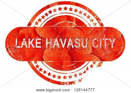 lake havasu city, vintage old stamp with rough lines and edges