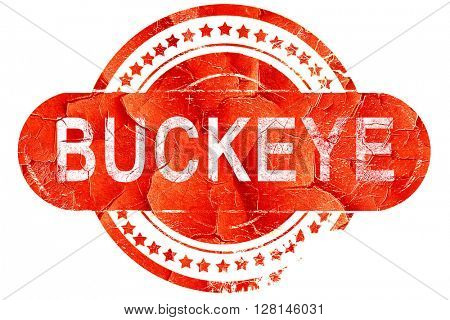 buckeye, vintage old stamp with rough lines and edges