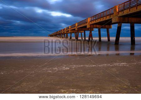 Jacksonville Pier in Jacksonville, Florida.
