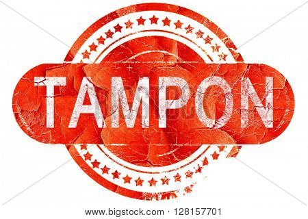tampon, vintage old stamp with rough lines and edges