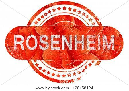 Rosenheim, vintage old stamp with rough lines and edges