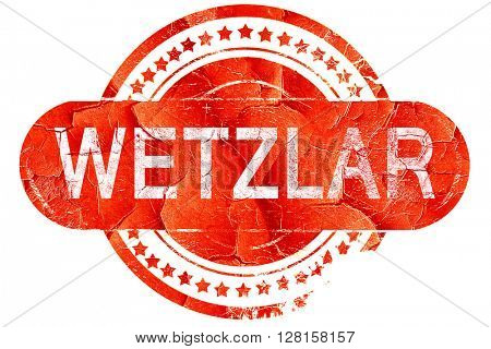 Wetzlar, vintage old stamp with rough lines and edges