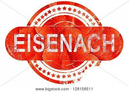Eisenach, vintage old stamp with rough lines and edges